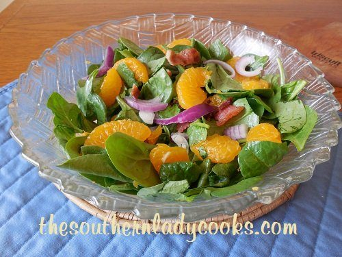 Bacon and Mandarin Orange Spinach Salad TSLC
