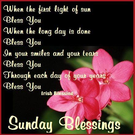 Sunday blessing