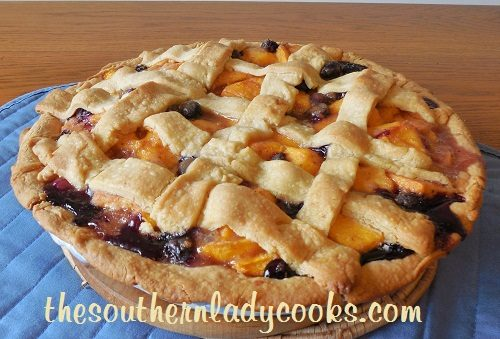 Peach and Blueberry Pie recipe