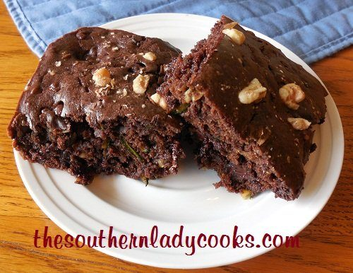 Sour Cream Zucchini Brownies - TSLC