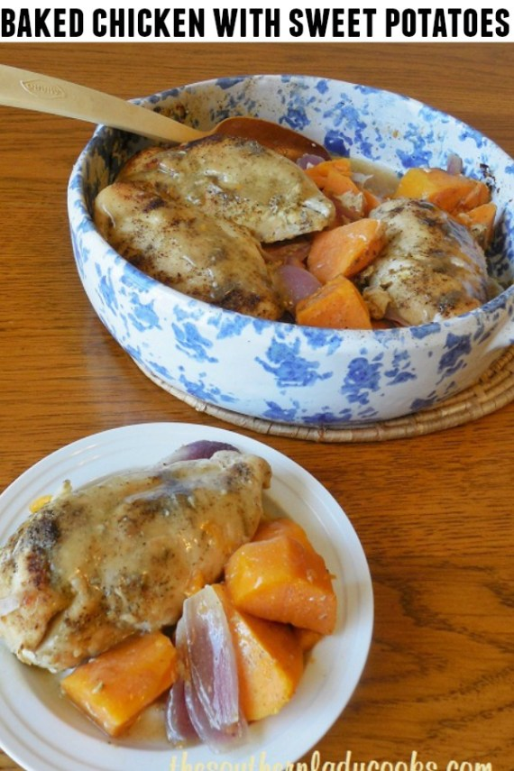 Baked Chicken with Sweet Potatoes