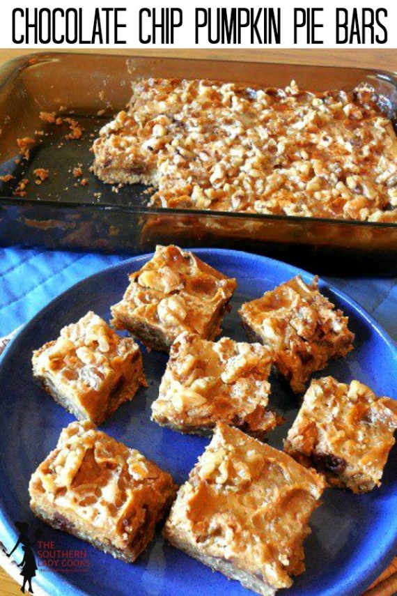 Chocolate Chip Pumpkin Pie Bars