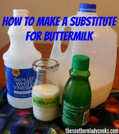 What Can I Use To Substitute Buttermilk In A Cake