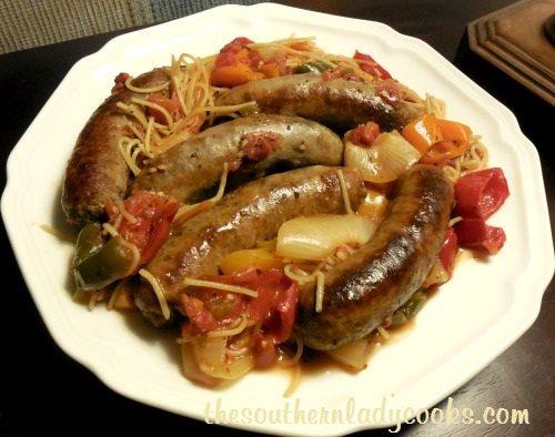 Crock Pot Italian Sausage Spaghetti2 - Copy