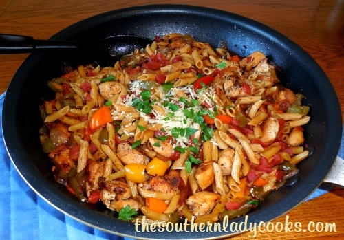 Italian Chicken, Peppers and Pasta Skillet (2) - Copy - Copy