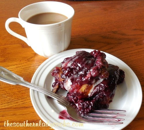 Southern Lady's Cinnamon Roll Blackberry Brunch Bread - TSLC
