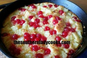 IRON SKILLET PINEAPPLE COBBLER