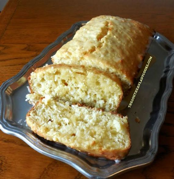 Pineapple Coconut Loaf Cake - The Southern Lady Cooks