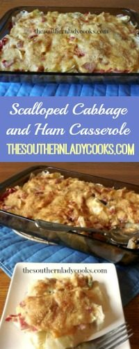 The Southern Lady Cooks Scalloped Cabbage and Ham Casserole