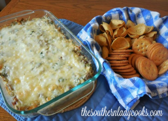 Sausage Spinach Dip The Southern Lady Cooks