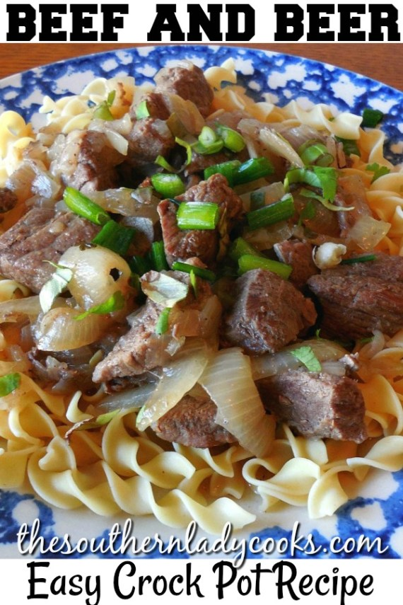 Crock Pot Beef and Beer - The Southern Lady Cooks