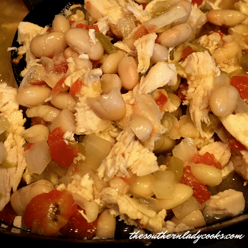 Crock Pot White Beans and Chicken - The Southern Lady Cooks