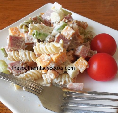 Ham Pasta Salad - The Southern Lady Cooks