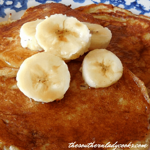 Banana Buttermilk Pancakes - The Southern Lady Cooks