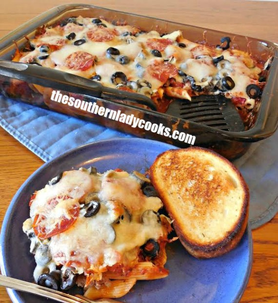 Pizza Pasta Casserole - The Southern Lady Cooks