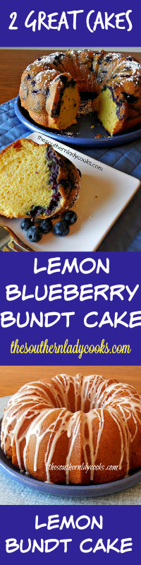 The Southern Lady Cooks Lemon Blueberry Bundt Cake