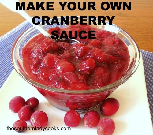 Make Your Own Cranberry Sauce