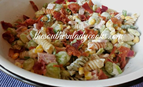 Succotash Pasta Salad - The Southern Lady Cooks