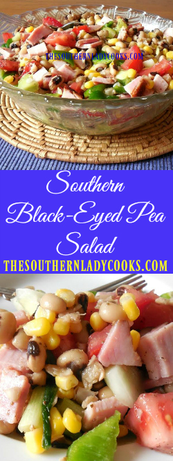 The Southern Lady Cooks Southern Black-Eyed Pea Salad