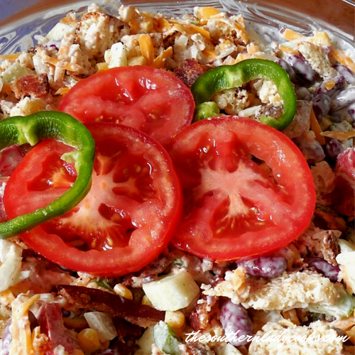 Southern Cornbread Salad The Southern Lady Cooks