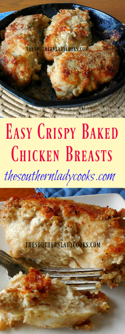 The Southern Lady Cooks Easy Crispy Baked Chicken Breasts