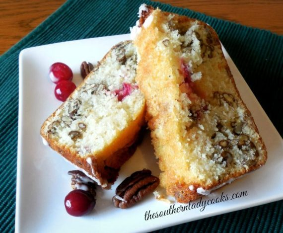 CRANBERRY LOAF CAKE - The Southern Lady Cooks