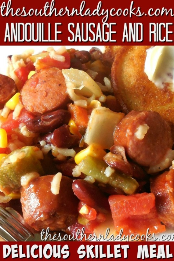 Andouille Sausage and Rice Skillet
