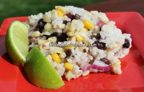 Lime Rice Black Bean Corn Salad Recipe The Southern Lady Cooks