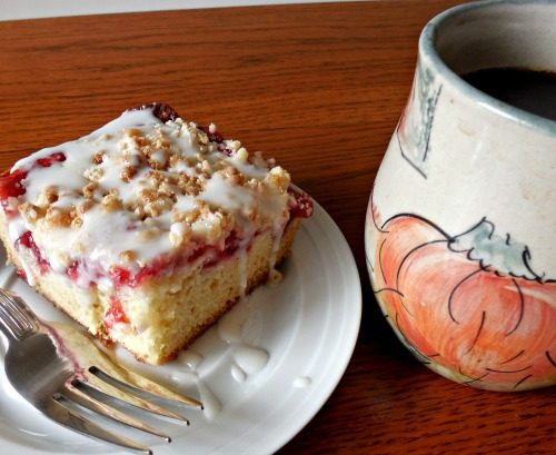 Cherry coffee cake-The Southern Lady Cooks