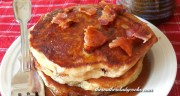 PEANUT BUTTER, BANANA AND BACON PANCAKES