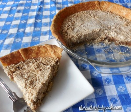Amish Vanilla Pie - The Southern Lady Cooks
