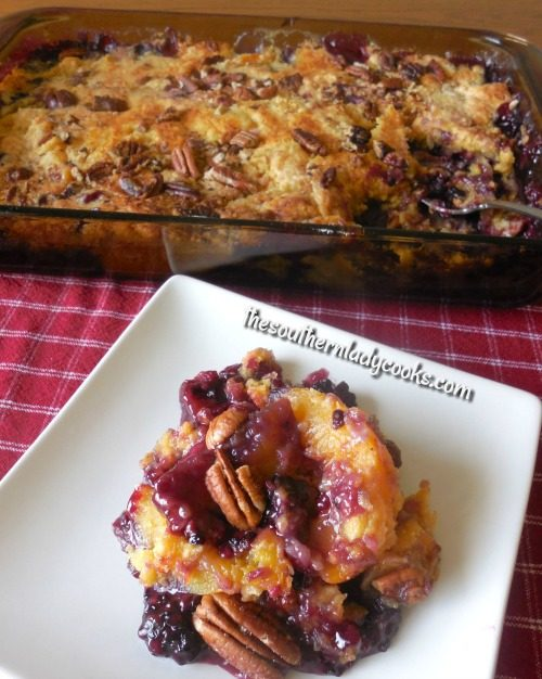 Blackberry Peach Dum Cake