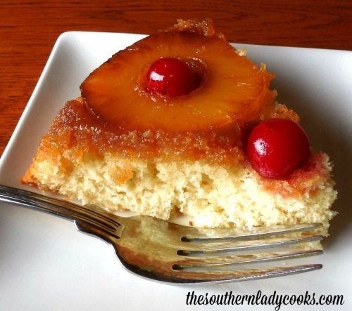 Old Fashioned Pineapple Cake: PINEAPPLE UPSIDE DOWN CAKE