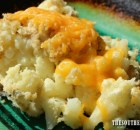 CHEESY GARLIC CAULIFLOWER CASSEROLE