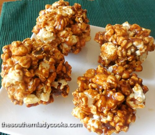 Caramel Popcorn Balls-The Southern Lady Cooks