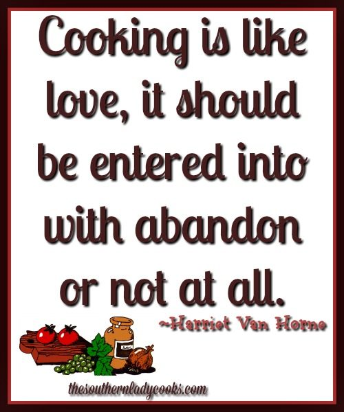 Quotes About Cooking And Love  Harriet Van Horne Food Quote