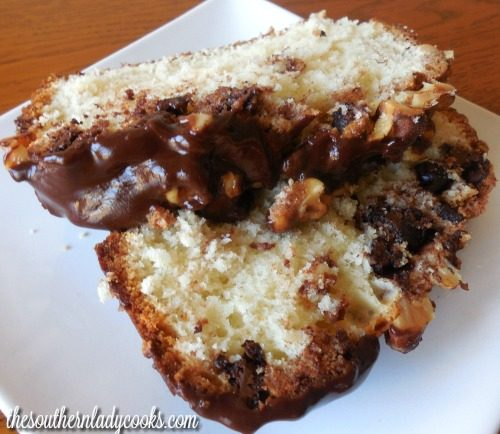Chocolate Chip Loaf Cake -The Southern Lady Cooks