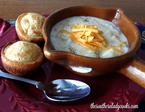 Easy crock pot creamy potato soup