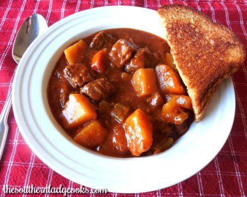 Round steak stew-Crock Pot