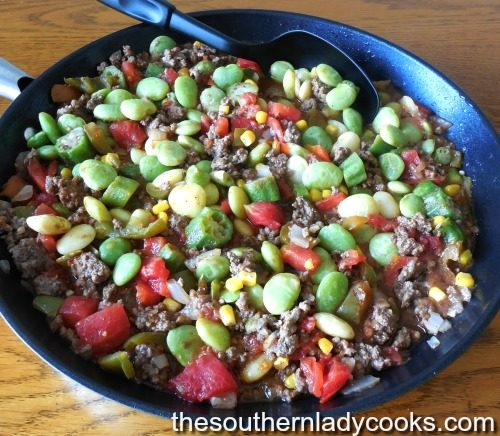 Lima Bean Skillet Meal The Southern Lady Cooks