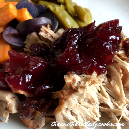 Crock Pot Cranberry Pork 4 Ingredients The Southern Lady Cooks