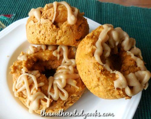 Cake Mix Pumpkin Donuts