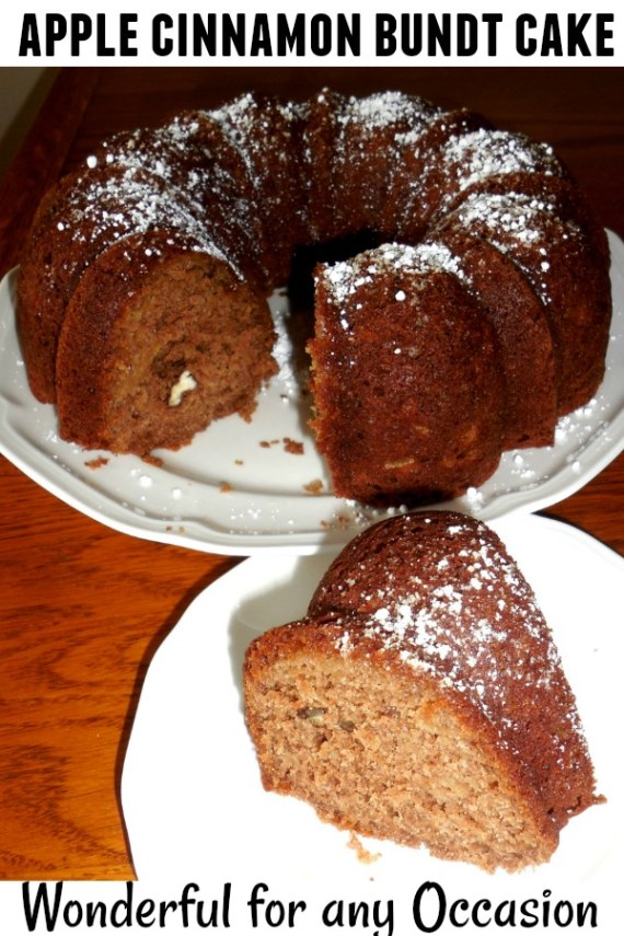 Apple Cinnamon Bundt Cake - The Southern Lady Cooks