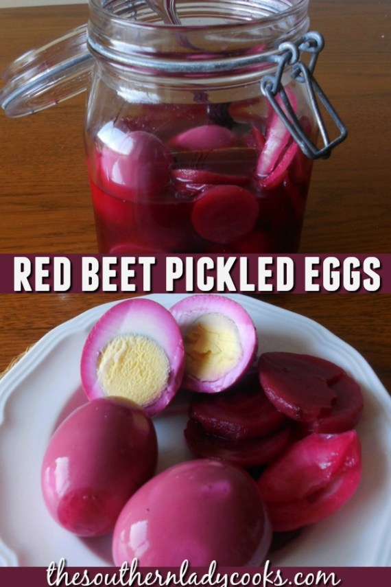 Red Beet Pickled Eggs - The Southern Lady Cooks