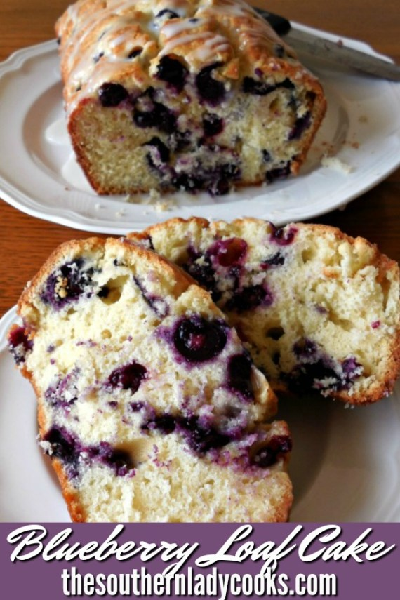 Simple Blueberry Loaf Cake - The Southern Lady Cooks