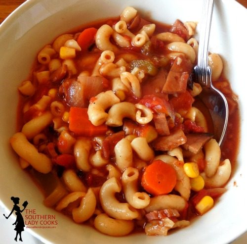 Macaroni Ham Soup