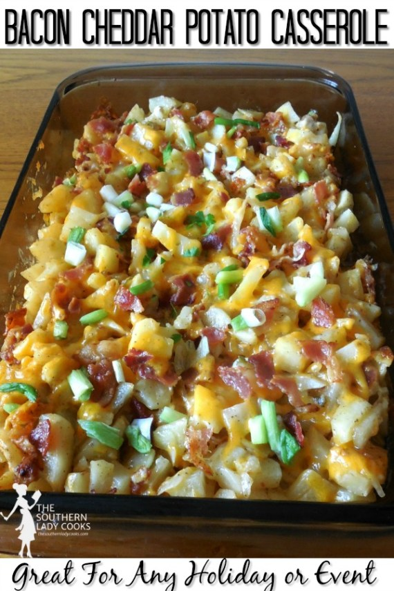 Bacon Cheddar Potato Casserole