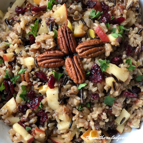 Cranberry Wild Rice The Southern Lady Cooks