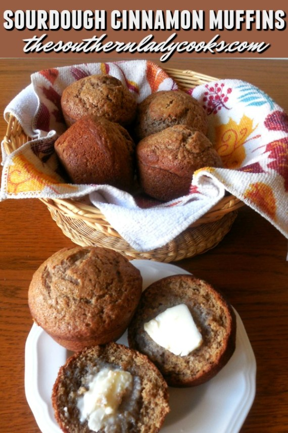 Sourdough Cinnamon Muffins