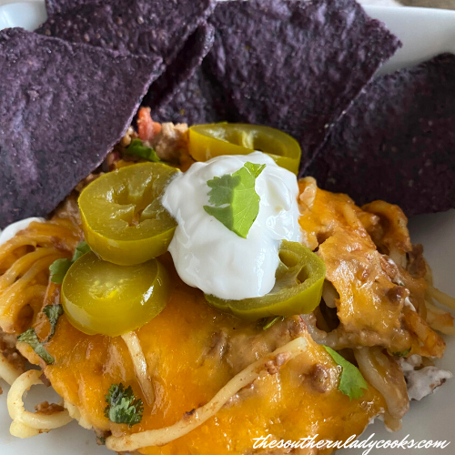 Mexican Baked Spaghetti The Southern Lady Cooks